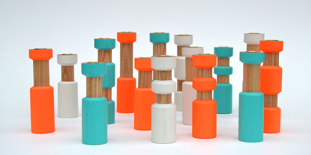 Matt Pugh - wooden candle sticks