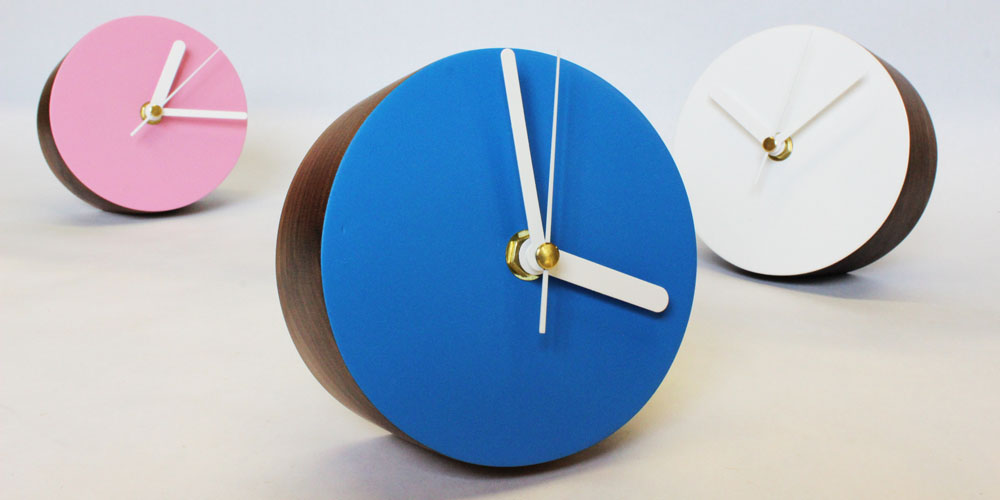 Matt Pugh - wooden desk clocks